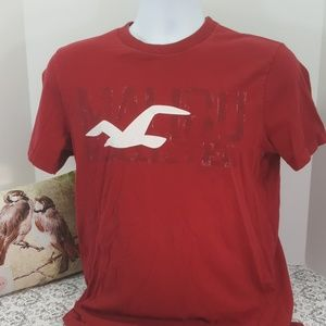 """Vintage Hollister """"Malibu"""" T Shirt Red #0018"""